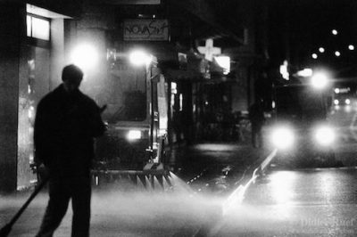 Can the day's events simply be swept away by a street cleaner...